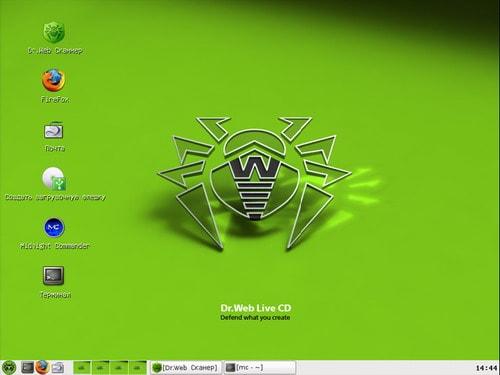 графическая оболочка Doctor Web LiveUSB